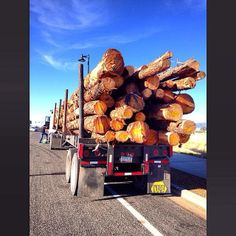 """""""Pondersa Pine Haulin' Arizona Logging Truck"""" #arizona, #prescottvalley, #pine, #ponderosapine, #pinetree,  #lumber, #semitruck, #semi, #yavapaicounty, #logging,"""