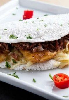 Tapioca: recheio de queijo coalho e carne de sol - Tapioca: como fazer
