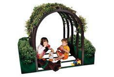 "48"" Outdoor Vine House with Planters $2175.99! I bet you could build your own version for around $200 :)"