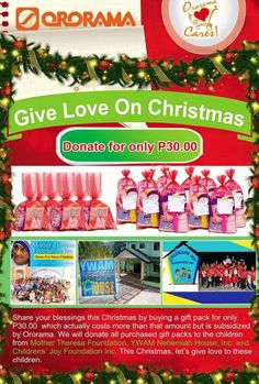 We are giving love once again this Christmas to the orphans, street children , abused and abandoned children now under the care of Children's Joy Foundation, YWAM Nehemiah House Inc. and Mother Theresa Foundation ❤️ And we can do this with your help 😊