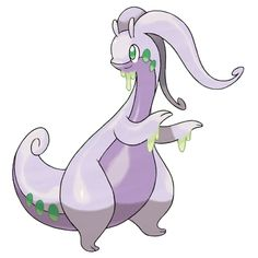 "Pokeball Pokemon - Goodra - Goodra doesn't have the range of some other pokemon, but it will use ""Dragon Tail"" with it's massive tail and instantly Knock foes away with the force of Little Mac's KO punch. Pokemon Pokedex, Pokemon Tv, Kalos Pokemon, Dragon Type Pokemon, Pokemon X And Y, Cool Pokemon, Pokemon Cards, Pokemon Original, Photo Pokémon"