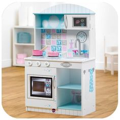$99.95 Active role play becomes interactive with the Plum Snowdrop Interactive Wooden Kitchen! It's packed with role play features for little chefs to cook up a feast. For even more creative cooking fun, add interactive animation, sounds and lights to the kitchen's microwave by inserting your tablet device (not included) into the secure door compartment and downloading the free Plum app.
