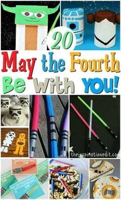 20 StarWars Themed Crafts and recipes for Star Wars themed Fun. These are great Kids activities and fantastic for Star Wars themed play.