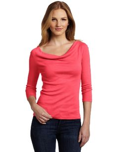 Red Dot Women's Cowl Neck Top: Clothing