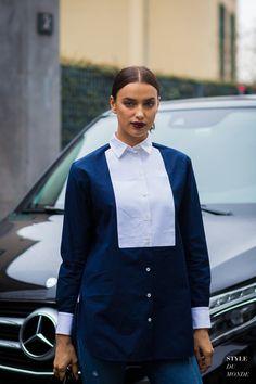 Irina Shayk Street Style Street Fashion Streetsnaps by STYLEDUMONDE Street Style Fashion Photography