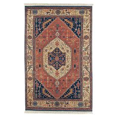 Anchor your living room seating group or define space in the den with this eye-catching New Zealand wool rug, showcasing a Persian-inspired motif for eye-cat...