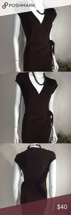 Brown Lauren Ralph Lauren Full Length Wrap Dress Gently worn  Size Small Brown Lauren Ralph Lauren Full Length Wrap Dress.  70% Rayon, 30% polyester. measures approx 16 inches from armpit to armpit and 60 inches in length.  No rips, stains or tears.  Non smoking home. Lauren Ralph Lauren Dresses Maxi