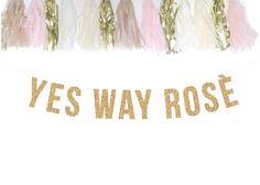 YES WAY ROSÉ gold glitter garland