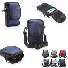 NEW Multi-function Wallet Mobile Phone Bag Outdoor Phone Case for Multi Phone Model Hook Loop Belt Pouch 3 Pocket Free Ship XCZ7