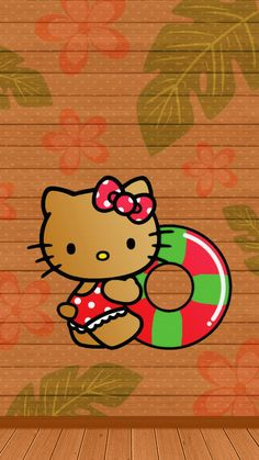 Hello Kitty Backgrounds, Hello Kitty Wallpaper, Mobile Wallpaper, Iphone Wallpaper, I Love Daddy, Hello Kitty Pictures, Friends Wallpaper, Summer Wallpaper, Sanrio Characters