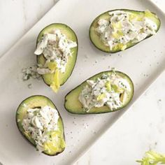 Herbed Crab Salad-Stuffed Avocados - Rachael Ray Every Day
