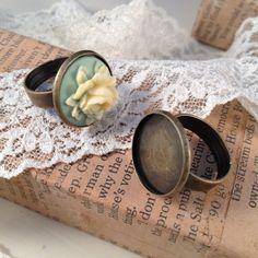 4 pcs ring base setting Antique Bronze by ingredientsforlovely, $3.24