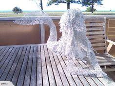 Jallen2: Chicken wire sculpture: MERMAID | Trade Me Chicken Wire Art, Chicken Wire Sculpture, Wire Art Sculpture, Outdoor Chairs, Outdoor Furniture, Outdoor Decor, Mermaid Diy, Mermaids, Carving