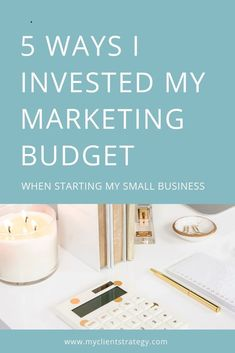 Want to know where to invest the marketing budget for your small business? Here's 5 ways I invested my marketing budget when I first started out. Marketing Budget, Content Marketing Strategy, Small Business Marketing, Marketing Ideas, Online Marketing, Digital Marketing, Internet Marketing, Business Planning, Business Tips