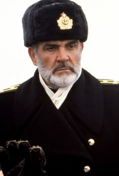 "tarkowski: ""Sean Connery in The Hunt for Red October "" Moustache, Sean Connery James Bond, Trooper Hat, Navy Uniforms, Pierce Brosnan, Winter Outfits Men, Vintage Hollywood, Action Movies, Hollywood Stars"
