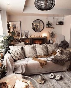 Bohemian Latest And Stylish Home decor Design And Life Style Ideas Cozy Living, My Living Room, Home And Living, Living Room Decor, Bedroom Decor, Modern Living, Interior Simple, Interior Design, Room Interior
