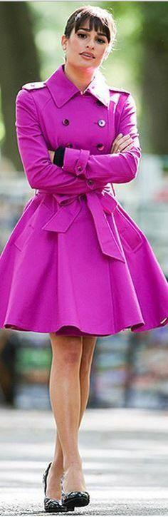 Pinkish purplish coat
