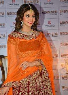 "Urvashi Rautela Looks Gorgeous In Bridal Dress At Photoshoot For The ""Wedding…"