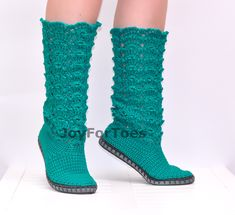 Crochet Shoes Crochet Lace Boots Emerald Green Made от JoyForToes
