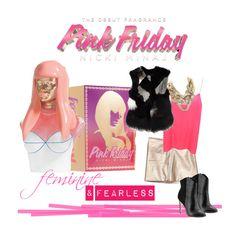 """Step into a Bright New World with Pink Friday Nicki Minaj"" by nickiminajfragrance ❤ liked on Polyvore featuring Nicki Minaj and Madison Harding"