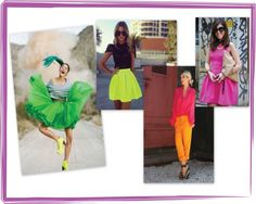 Neon Brights For Summer!  You can't miss one of the big fashion trends this season: eye-popping neon colors.