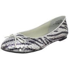 Annie Shoes Women's Sally Sequin Ballet Flat $49.95