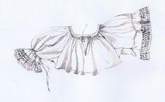 Rukávce, Jalovec, začiatok 20. storočia. Rukávce sú ušité z bieleho perkálu, majú rovný strih a bokom prišité dlhé rukávy, na ktorých konci je našitá širšia biela strojová čipka. Nad čipkou sa rukávy sťahovali na spôsob taclí. Rukávce siahali niže pása. Perkálové rukávce sa nosili vo sviatočné dni. Na všedné dni boli určené rukávce zo šifónu. Dlhé rukávce s dlhými rukávmi sa začali nosiť začiatkom 20. storočia spolu s dlhými košeľami. Scandinavian Folk Art, Folk Costume, Embroidery Patterns, Diy And Crafts, Projects To Try, Symbols, Style Inspiration, Sewing, Beautiful