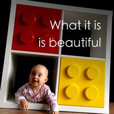 Our baby loves the giant LEGO bricks for IKEA Expedit