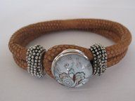 Snap Button Eco Leather bracelets. £10.