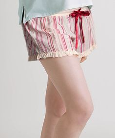 Take a look at this Raspberry & Champagne Flawless Maternity Shorts - Women on zulily today!