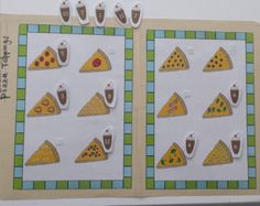File Folder Game, Counting Activity, Pizza Game, Kindergarten, Preschool, Laminated with Velcro, Homeschool, Travel Activity