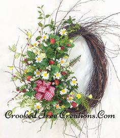 Strawberry/Daisy Birch Wreath