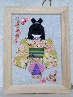 Japanese origami doll - Yukiko (in wooden frame) https://www.etsy.com/hk-en/listing/157549221/japanese-origami-doll-yukiko-in-wooden?ref=shop_home_active