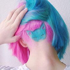 #MODERNSALON by @modernsalon Well meooww! #mod...Instagram photo   Websta (Webstagram) #undercut #pastel #hair #pink #pinkhair #hipster