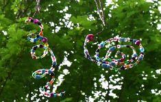 Windspiele aus bunten Perlen basteln / DIY Gartendeko / Windspiel Spirale und Schnecke