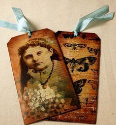 Mixed Media Tape Transfer Tags. I want to learn how to do this.