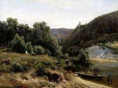 Shishkin Ivan - the monastery. 900 Classic russian paintings. Download painting.
