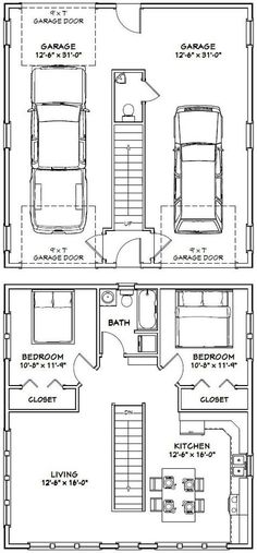 30x32 House -- #30X32H1 -- 961 sq ft - Excellent Floor Plans by darcy