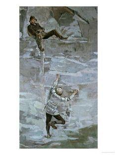 Aufstieg II - Ferdinand Hodler als Kunstdruck oder handgemaltes Gemälde. Art Nouveau, Vintage Artwork, Framed Artwork, Modern Art, Contemporary Art, Local Painters, Will Turner, Mountain Pictures, Gesture Drawing