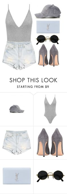 """tonight I'm making deals with the devil , and I know it's gonna get me in trouble"" by jo-ellehadi ❤ liked on Polyvore featuring Somedays Lovin, Gianvito Rossi and Yves Saint Laurent"