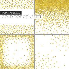 Gold Dot digital paper invitation paper by POandPOdigital on Etsy
