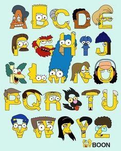 Tipografia dos Simpsons, de A a Z. #Tipografia