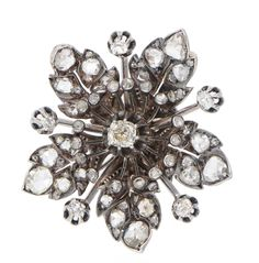 A diamond flower brooch c1900, lot 34 in our Fine Art sale of 27th & 28th November 2019.