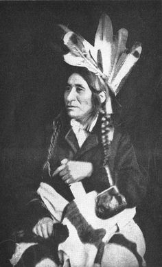 "A copy of a photograph of Taoyateduta, also know as ""Little Crow,"" chief of the Mdewakanton Dakota, on display at the Brown County Historical Society. Description from pinterest.com. I searched for this on bing.com/images"
