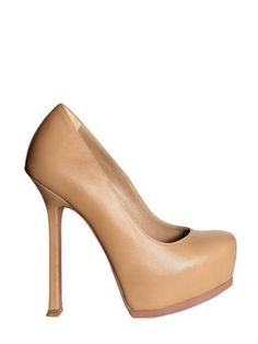 "Nude Heels | YSL -- but really can ANYONE actually wear these?  They're not even ""valet"" shoes (which is a term of art I created to refer to a pair of shoes you can stumble in just long enough to get from the car -- which is valet parked, of course -- into the restaurant and back out again....and that's about it.)"