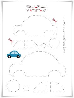 Plantilla para hacer un coche sencillo de fieltro o tela