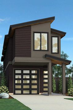 Check out this wonderful photo - what an inspired type Garage Apartment Plans, Garage House Plans, Garage Apartments, House Floor Plans, Garage Loft, House Roof Design, Tiny House Design, Contemporary House Plans, Modern House Plans