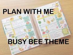 PLAN WITH ME | ERIN CONDREN HORIZONTAL | Busy Bee Theme - YouTube