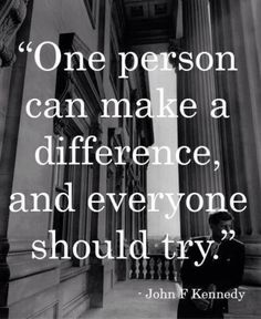 Quote making a difference