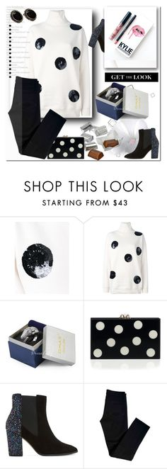 """Без названия #2306"" by ilona-828 ❤ liked on Polyvore featuring MSGM, Hershey's, Dune, J Brand, Kylie Cosmetics and polyvoreeditorial"